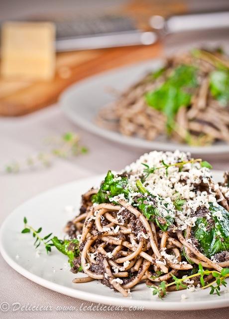 Mushroom Spaghetti recipe | deliciouseveryday.com