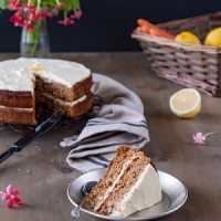 Best ever Carrot Cake - Gluten Free Carrot Cake with cream cheese frosting