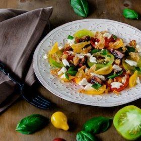 Heirloom Tomato Salad recipe vegetarian