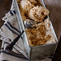 Caramelised White Chocolate No Churn Ice Cream recipe
