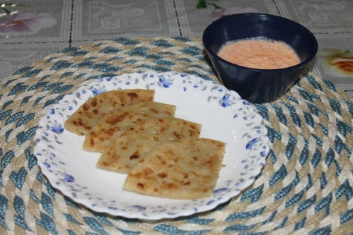 Raw Banana Paratha recipe
