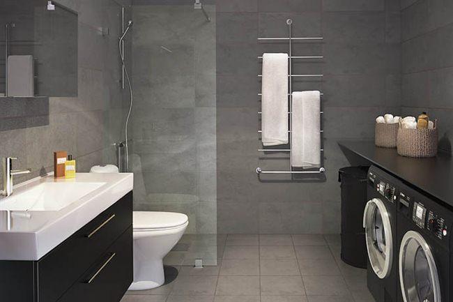 Baños Con Torre Ducha: con lavadora cuarto de plancha y lavandería cuarto de la lavadora