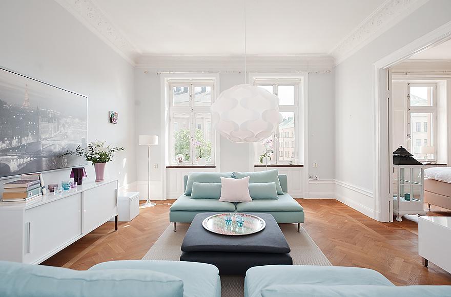 Decoraci n n rdica en blanco y colores pastel blog for Decoracion nordica pisos pequenos