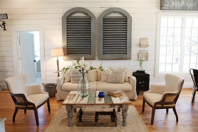 Aires de estilo n rdico en texas blog decoraci n estilo n rdico delikatissen - Fixer upper wohnzimmer ...