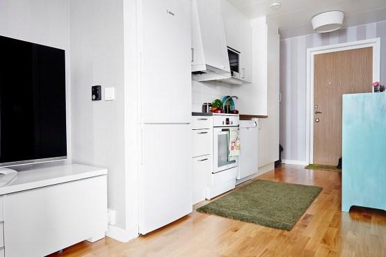 salón cocina comedor diáfano pisos pequeños diáfanos pisos de 40 metros estilo nordico mini pisos distribución diáfana pisos pequeños decoración pisos pequeños nórdicos decoración en gris nórdi