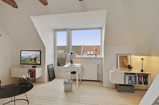 Un pequeño y moderno dúplex para dos delikatissen decoración decoración pisos áticos pequeños decoración estilo nórdico decoraci