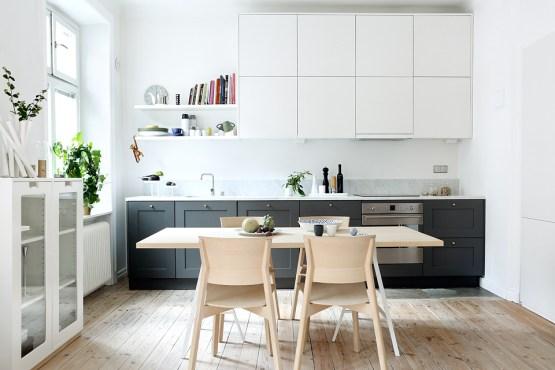 estilo nórdico escandinavo cocinas pequeñas doble armario cocinas nórdicas cocinas de ikea cocinas blancas modernas cocinas básicas 2 colores cocinas abiertas pequeñas blog decoración diseño nórdico