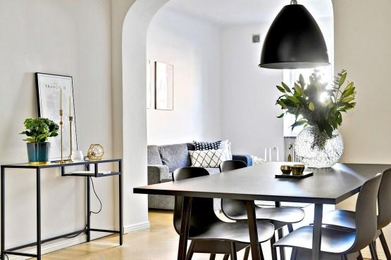 Planta semidiáfana diseño interiores diáfanos decoración separaciones en arco decoración pisos pequeños decoración nórdica escandinava decoración gris blanco negro decoración espacios pequeños blog de decoración interiores