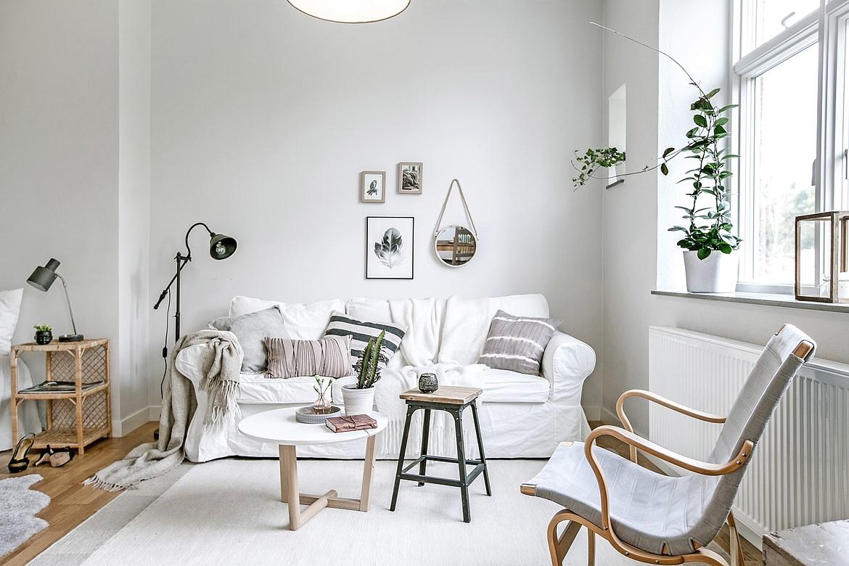 Piso de 38 m con planta abierta blog decoraci n estilo for Decoracion piso blanco