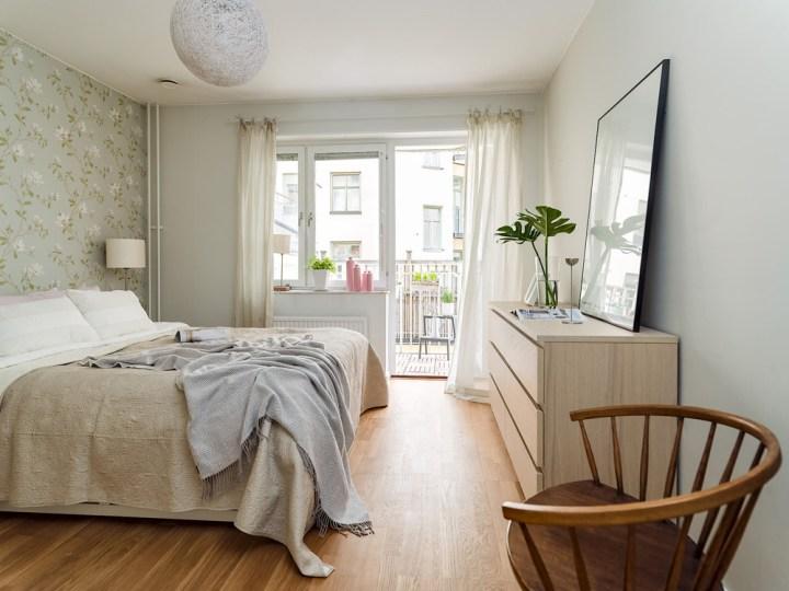 Tu dormitorio m�s femenino con papel de pared floral