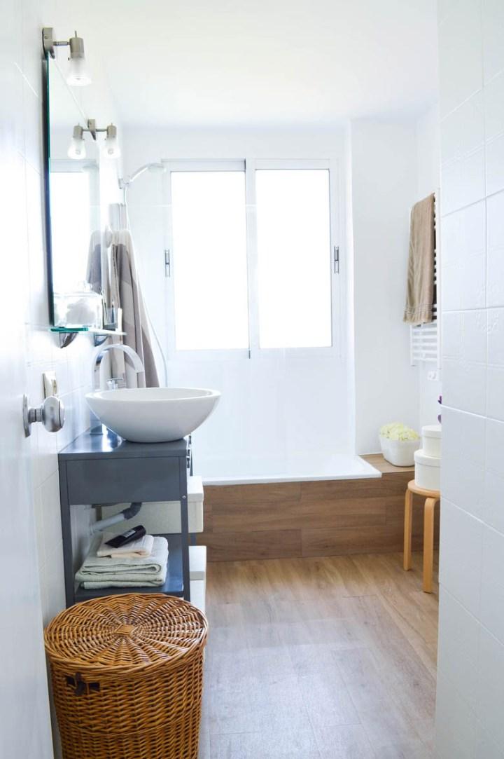 Antes despu s cuarto de ba o n rdico blog decoraci n estilo n rdico delikatissen - Cambiar cuarto de bano ...