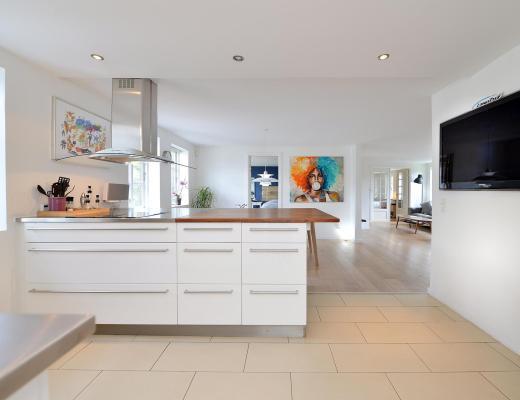104 m² y sólo dos dormitorios, blog decoración nórdica, cocina semiabierta, decoración amplitud, diseño interiores, distribución diáfana, espacios abiertos decoración, estilo escandinavo