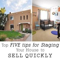 Top FIVE tips for Staging Your House to Sell Quickly + a FREE checklist
