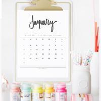 2016 Hand Lettered Calendar