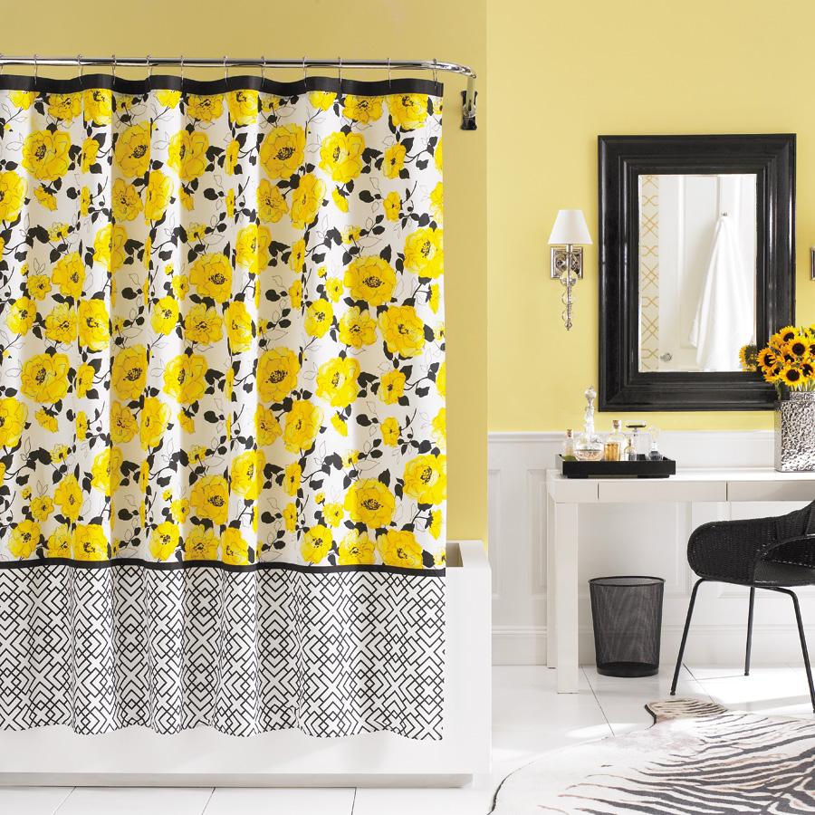 Innovative X Black Yellow Shower Curtain Furniture Ideas Deltaangelgroup Yellow Grey Shower Curtain Yellow Shower Curtain Uk houzz-03 Yellow Shower Curtain