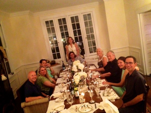 Dinner Party with Mississippi Man Charlie Musselwhite and more Delta Bohemians in Clarksdale. 2012