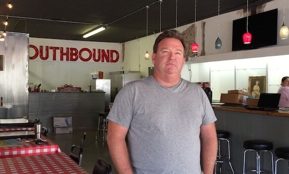 Kathryn's Restaurant Owner John Mohead standing inside his newest venture SOUTHBOUND PIZZA in Helena