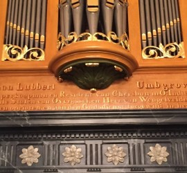 Orgel detail tekst