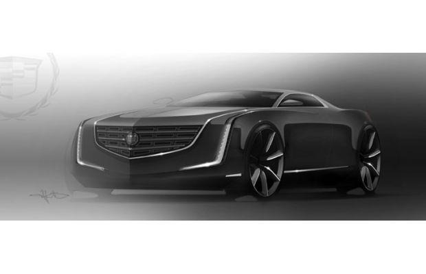 Cadillac's Elmiraj Coupe Concept concept drawing