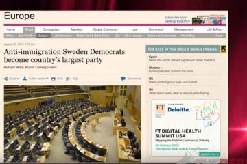 Anti Immigration Sweden's New Democrats rise in polls