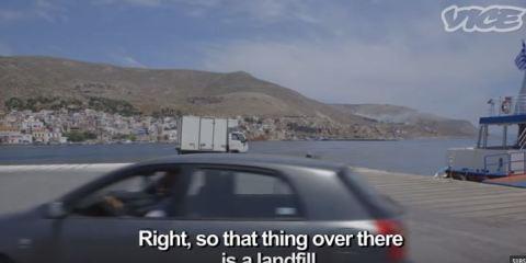 Kalymnos Greece Garbage Dump