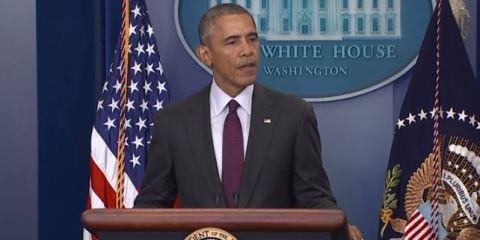 US President Barack Obama Delivers Address on Oregon Mass Shooting