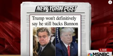 Tensions between Trump and Bannon