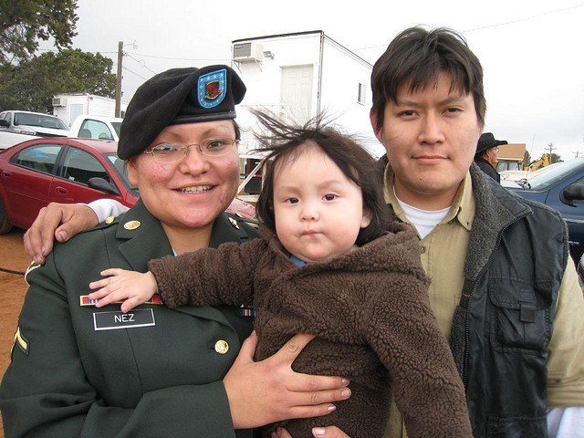 Native American Family With Veteran of 2003 Iraq War