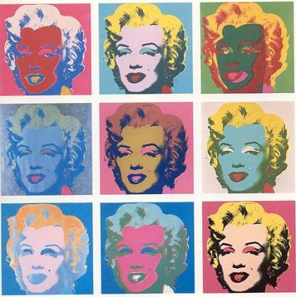 Modern Consumerism: Pop-Art 60s: Andy Warhol Marilyn Monroe Nine