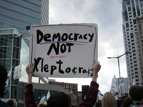 Sign Democracy Not Kleptocracy
