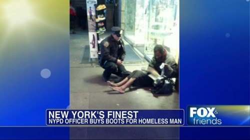 NYC Officer Photo Viral Homeless Times Sq
