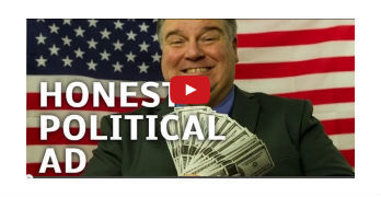 corrupt Cartoon Politician's Campaign Commercial