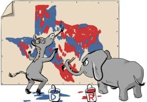 texas redistricting cartoon map