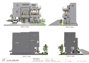 デザイン住宅 東京 立面図