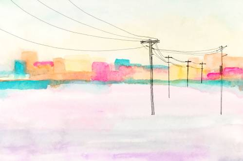 urban sunshine 9 watercolor