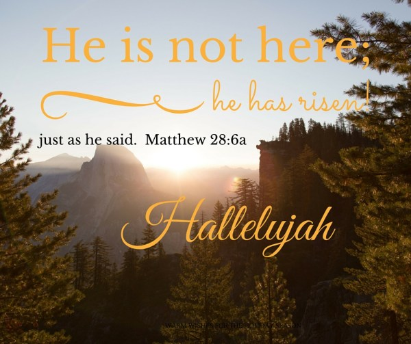 He is not here - Easter