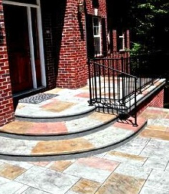 Multi Colored Denver Decorative Custom Concrete Patio and Entryway
