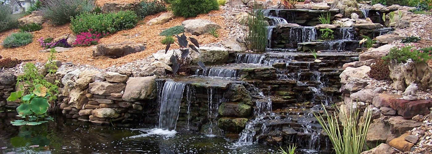 Denver custom water features add depth to landscaping