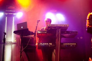 Nick Rhodes hasn't changed a whit after three decades in Duran Duran. Their show was brilliantly satisfying, if a little long of tooth at times, las Wednesday at the Ogden (Photo: Nathan Iverson, HeyReverb.com)