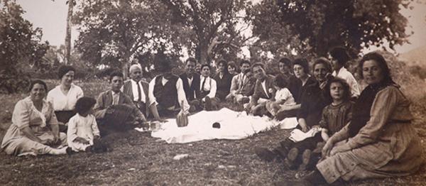 Famiglia Filippi De Paolis inizi '900 - Festa di fine raccolto
