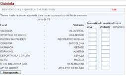 La Quiniela Balear de DeporteBalear.com