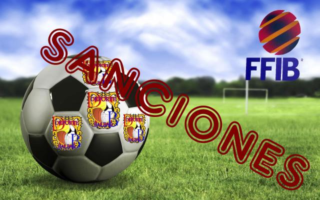 Sanciones Juveniles 2ª regional, Mallorca, Liga - Gru- B