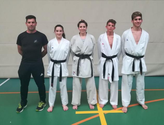 El tecnico Jesus triay . Francesc Sanz, Cris Pons, Julen Triay i Judith Álvarez