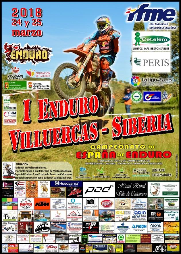 Cartel Enduro Cañamero-Valdecaballeros 2018 - copia