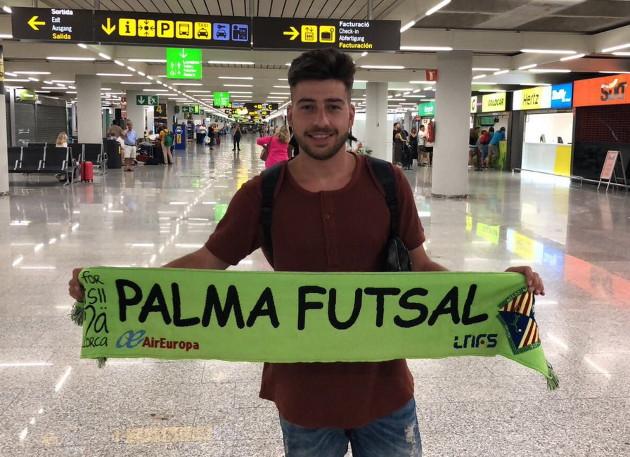 Catela a su llegada al aeropuerto de Palma