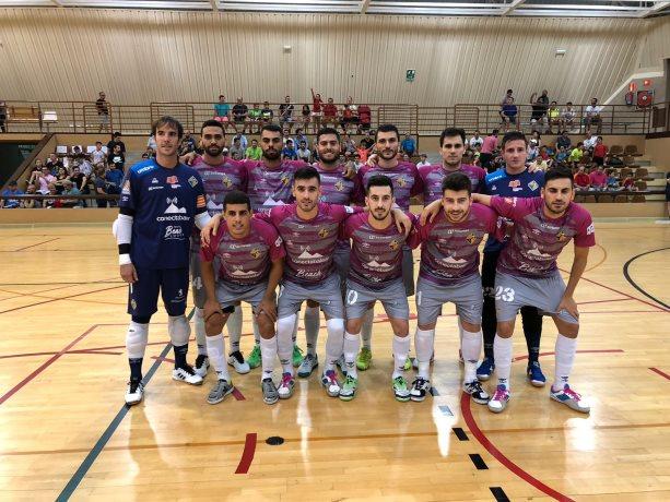 El Palma Futsal posó antes del partido frente a ElPozo