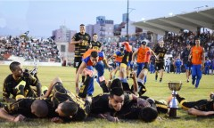 festejo Crucero vs Guaraní penales