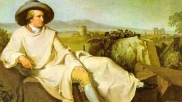Goethe schickte auch nur wenige Nachrichten aus Italien
