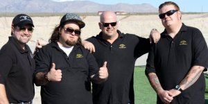 """Sean Rich (far left), expert in small arms and armour, featured expert on The History Channel's """"Pawn Stars"""", advised in the writing of this article."""