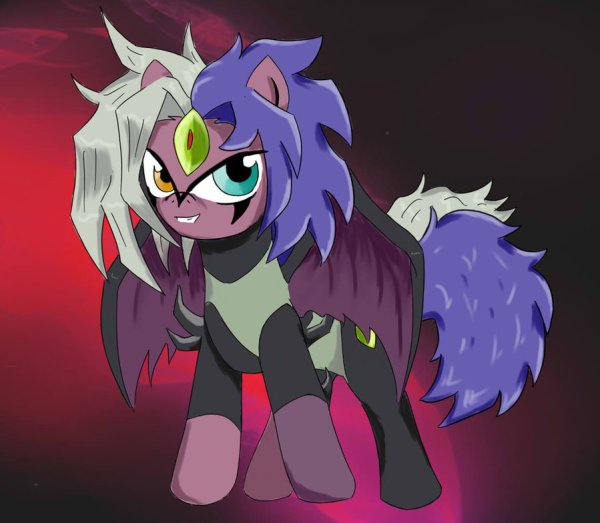 Yubel Pony by ~melynxe